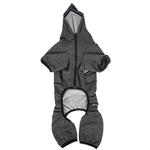 View Image 5 of Pet Life ACTIVE 'Fur-Breeze' Performance Full Body Warm-Up Dog Hoodie - Black and Gray