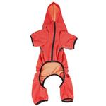 View Image 5 of Pet Life ACTIVE 'Fur-Breeze' Performance Full Body Warm-Up Dog Hoodie - Red and Gray