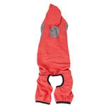 View Image 4 of Pet Life ACTIVE 'Fur-Breeze' Performance Full Body Warm-Up Dog Hoodie - Red and Gray