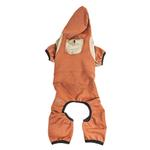 View Image 4 of Pet Life ACTIVE 'Fur-Breeze' Performance Full Body Warm-Up Dog Hoodie - Teracotta and Tan