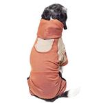 View Image 2 of Pet Life ACTIVE 'Fur-Breeze' Performance Full Body Warm-Up Dog Hoodie - Teracotta and Tan