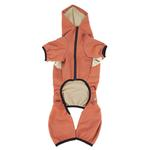 View Image 5 of Pet Life ACTIVE 'Fur-Breeze' Performance Full Body Warm-Up Dog Hoodie - Teracotta and Tan