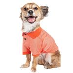 View Image 2 of Pet Life ACTIVE 'Fur-Flexed' Performance Dog Polo - Orange