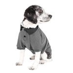 View Image 3 of Pet Life ACTIVE 'Fur-Flexed' Performance Dog Polo - Gray
