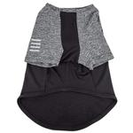 View Image 4 of Pet Life ACTIVE 'Hybreed' Two-Toned Performance Dog T-Shirt - Black and Gray