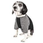 View Image 2 of Pet Life ACTIVE 'Hybreed' Two-Toned Performance Dog T-Shirt - Black and Gray