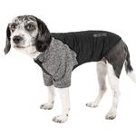 View Image 1 of Pet Life ACTIVE 'Hybreed' Two-Toned Performance Dog T-Shirt - Black and Gray