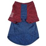 View Image 6 of Pet Life ACTIVE 'Hybreed' Two-Toned Performance Dog T-Shirt - Blue and Maroon