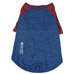 View Image 5 of Pet Life ACTIVE 'Hybreed' Two-Toned Performance Dog T-Shirt - Blue and Maroon