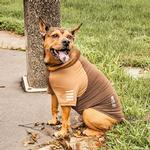 View Image 6 of Pet Life ACTIVE 'Hybreed' Two-Toned Performance Dog T-Shirt - Brown