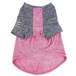 View Image 7 of Pet Life ACTIVE 'Hybreed' Two-Toned Performance Dog T-Shirt - Pink and Navy