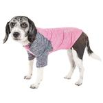 View Image 1 of Pet Life ACTIVE 'Hybreed' Two-Toned Performance Dog T-Shirt - Pink and Navy