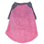 View Image 6 of Pet Life ACTIVE 'Hybreed' Two-Toned Performance Dog T-Shirt - Pink and Navy