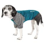 View Image 1 of Pet Life ACTIVE 'Hybreed' Two-Toned Performance Dog T-Shirt - Teal and Gray