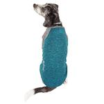 View Image 3 of Pet Life ACTIVE 'Hybreed' Two-Toned Performance Dog T-Shirt - Teal and Gray