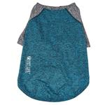 View Image 5 of Pet Life ACTIVE 'Hybreed' Two-Toned Performance Dog T-Shirt - Teal and Gray