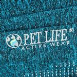 View Image 7 of Pet Life ACTIVE 'Hybreed' Two-Toned Performance Dog T-Shirt - Teal and Gray