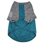 View Image 6 of Pet Life ACTIVE 'Hybreed' Two-Toned Performance Dog T-Shirt - Teal and Gray