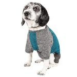 View Image 2 of Pet Life ACTIVE 'Hybreed' Two-Toned Performance Dog T-Shirt - Teal and Gray