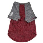 View Image 2 of Pet Life ACTIVE 'Hybreed' Two-Toned Performance Dog T-Shirt - Maroon and Gray
