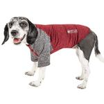 View Image 1 of Pet Life ACTIVE 'Hybreed' Two-Toned Performance Dog T-Shirt - Maroon and Gray
