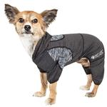 View Image 1 of Pet Life ACTIVE 'Pawsterity' Performance Dog Hoodie Jumpsuit - Black