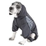 View Image 4 of Pet Life ACTIVE 'Pawsterity' Performance Dog Hoodie Jumpsuit - Black