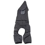 View Image 5 of Pet Life ACTIVE 'Pawsterity' Performance Dog Hoodie Jumpsuit - Black