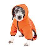 View Image 2 of Pet Life ACTIVE 'Pawsterity' Peformance Dog Hoodie Jumpsuit - Orange