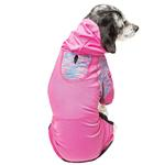 View Image 3 of Pet Life ACTIVE 'Pawsterity' Peformance Dog Hoodie Jumpsuit - Pink