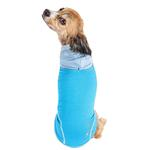 View Image 2 of Pet Life ACTIVE 'Pull-Rover' Performance Sleeveless Dog Hoodie - Electric Blue