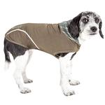 View Image 1 of Pet Life ACTIVE 'Pull-Rover' Performance Sleeveless Dog Hoodie - Olive Green