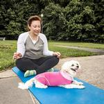 View Image 9 of Pet Life ACTIVE 'Pull-Rover' Performance Sleeveless Dog Hoodie - Pink