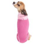View Image 3 of Pet Life ACTIVE 'Pull-Rover' Performance Sleeveless Dog Hoodie - Pink