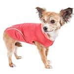 View Image 3 of Pet Life ACTIVE 'Pull-Rover' Performance Sleeveless Dog Hoodie - Coral Red