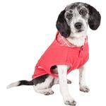 View Image 1 of Pet Life ACTIVE 'Pull-Rover' Performance Sleeveless Dog Hoodie - Coral Red