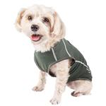 View Image 3 of Pet Life ACTIVE 'Racerbark' Performance Dog Tank - Olive Green