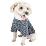 View Image 2 of Pet Life ACTIVE 'Warf Speed' Performance Dog T-Shirt - Black Heather