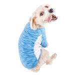 View Image 3 of Pet Life ACTIVE 'Warf Speed' Performance Dog T-Shirt - Blue Heather