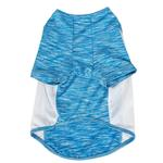 View Image 6 of Pet Life ACTIVE 'Warf Speed' Performance Dog T-Shirt - Blue Heather