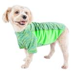 View Image 1 of Pet Life ACTIVE 'Warf Speed' Performance Dog T-Shirt - Green Heather