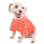 View Image 3 of Pet Life ACTIVE 'Warf Speed' Performance Dog T-Shirt - Coral Heather