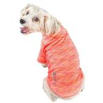 View Image 2 of Pet Life ACTIVE 'Warf Speed' Performance Dog T-Shirt - Coral Heather
