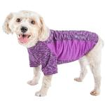 View Image 1 of Pet Life ACTIVE 'Warf Speed' Performance Dog T-Shirt - Purple Heather
