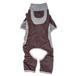 View Image 4 of Pet Life ACTIVE 'Warm-Pup' Performance Jumpsuit - Brown and Gray