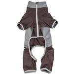View Image 5 of Pet Life ACTIVE 'Warm-Pup' Performance Jumpsuit - Brown and Gray