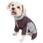 View Image 3 of Pet Life ACTIVE 'Warm-Pup' Performance Jumpsuit - Brown and Gray