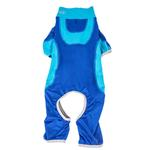 View Image 4 of Pet Life ACTIVE 'Warm-Pup' Performance Jumpsuit - Dark Blue and Light Blue