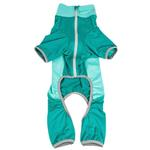 View Image 5 of Pet Life ACTIVE 'Warm-Pup' Performance Jumpsuit - Green and Aqua