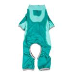 View Image 4 of Pet Life ACTIVE 'Warm-Pup' Performance Jumpsuit - Green and Aqua